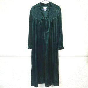 Aria Velvet Nightgown Plus 1X Lounge House Dress